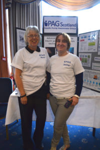Mary and Jackie at the iPAG Glasgow Insulin Pump Roadshow